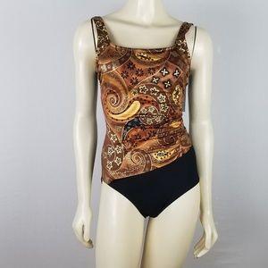 Sirena Signature One piece Vtg Swimsuit sz 8 TallA